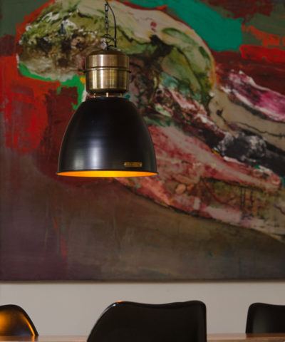 Voltera 32 cm - Shine Black / Brass - LOFTLIGHT