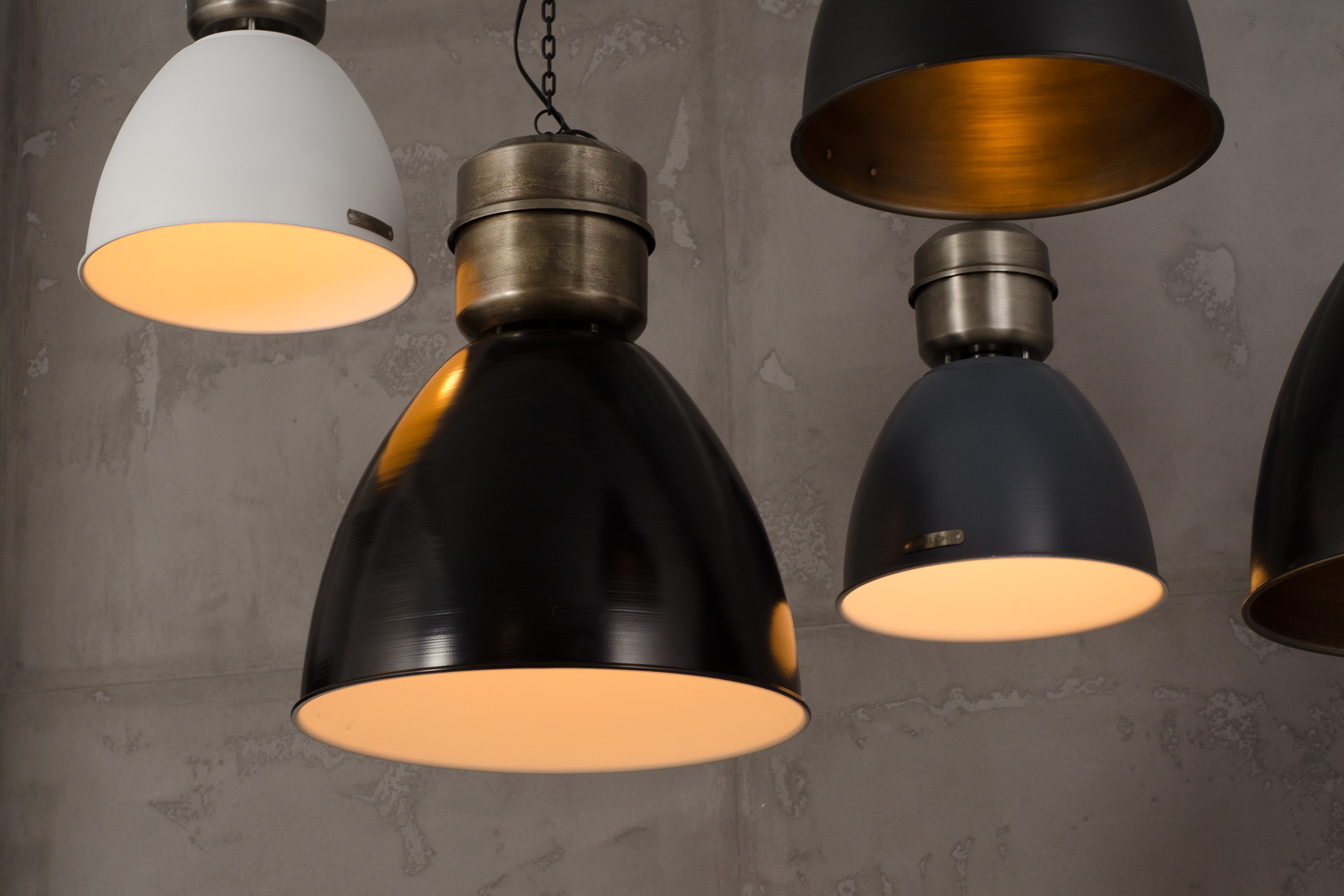 Voltera 46 cm - Matt Black / Brass - LOFTLIGHT